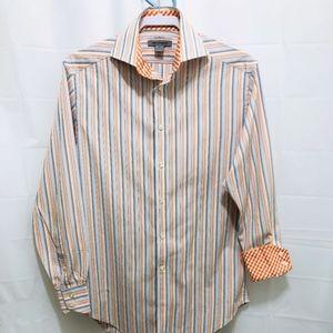 Johnston & Murphy Mens Shirt w/Flip Cuffs,Sz S  PE